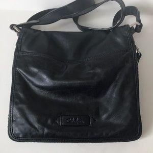 Cole Haan Bags - Cole Haan black leather moto crossbody purse bag